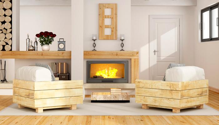 Bauholz-Möbel